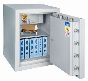 Rottner feuersicherer Wertschutzschrank EN5 Resort 85 It Fire Ektronikschloss Premium lichtgrau