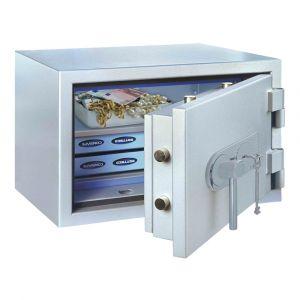 Rottner feuersicherer Papiersicherungsschrank EN1 SuperPaper 50 Elektronikschloss Premium weißaluminium