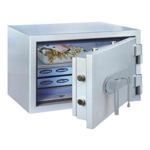 Rottner feuersicherer Papiersicherungsschrank EN1 SuperPaper 70 Elektronikschloss Premium weißaluminium